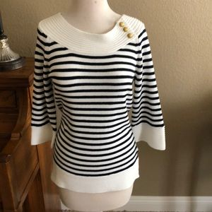 NWOT Nautical boatneck sweater